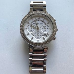 Michael Kors Parker Silver watch